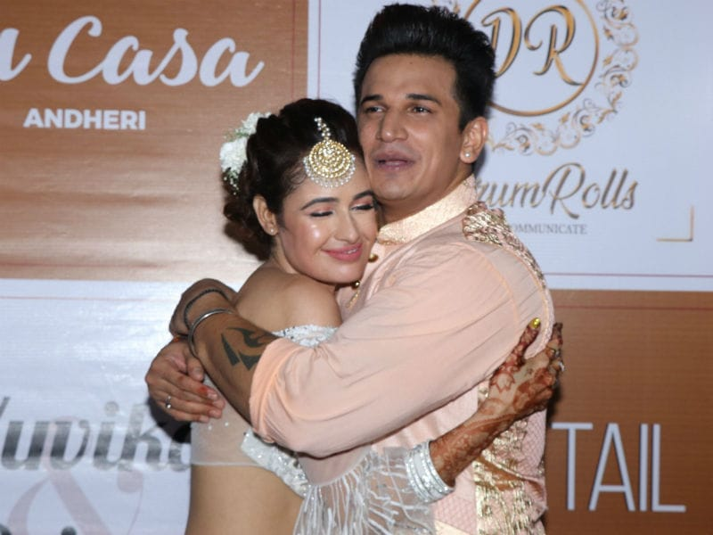Adorable Pics From Yuvika Chaudhary And Prince Narula's Sangeet