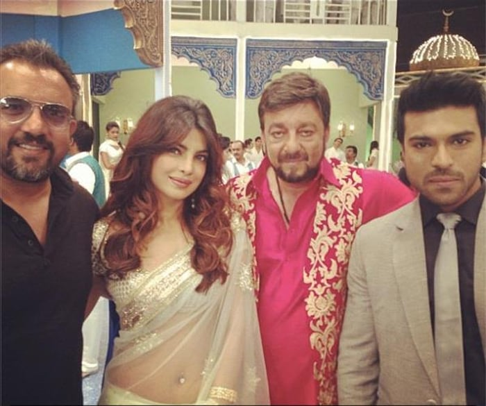 Team Zanjeer: Priyanka, Ram Charan, Sanjay