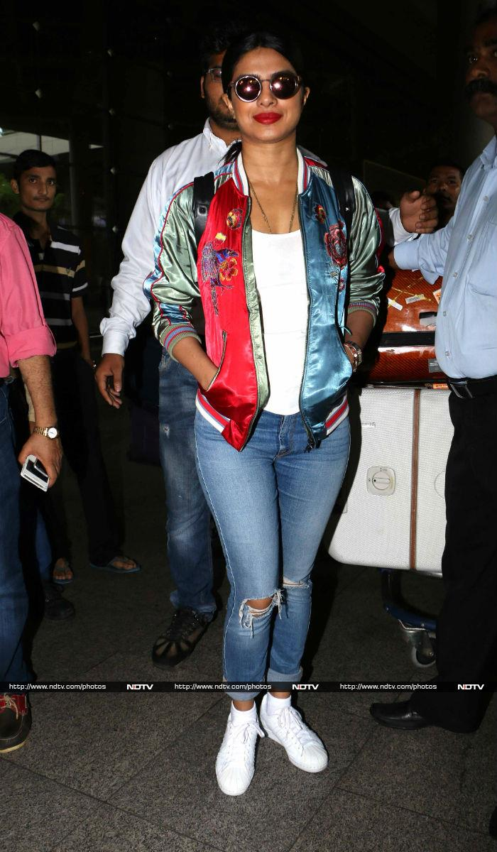 Desi Girl Priyanka Chopra is Back From Videshi Trip