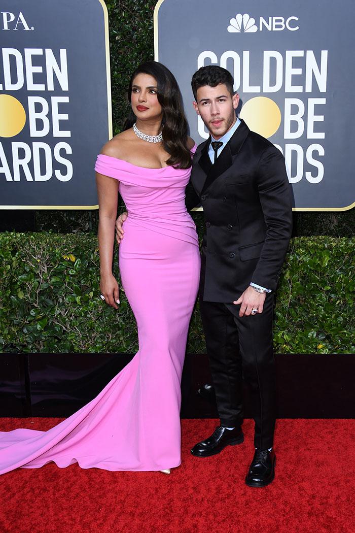 Priyanka Chopra Walks The Golden Globes Red Carpet, Nick Jonas By Her Side