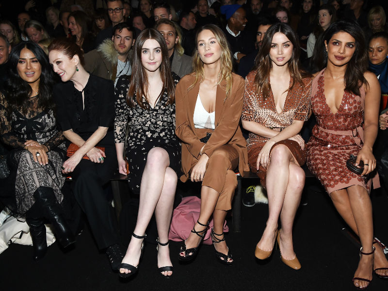 Fashion Front Row With Priyanka Chopra, Julianne Moore And Salma Hayek