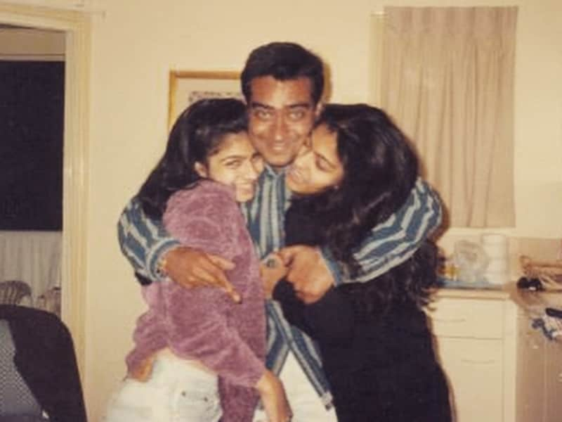Photo : Down Memory Lane With Kajol, Tanishaa and Ajay Devgn