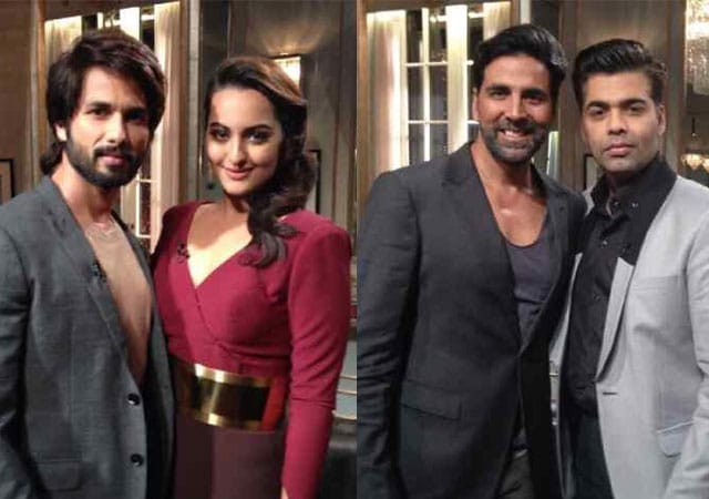 Shahid, Sonakshi, Akshay's confessions over Koffee