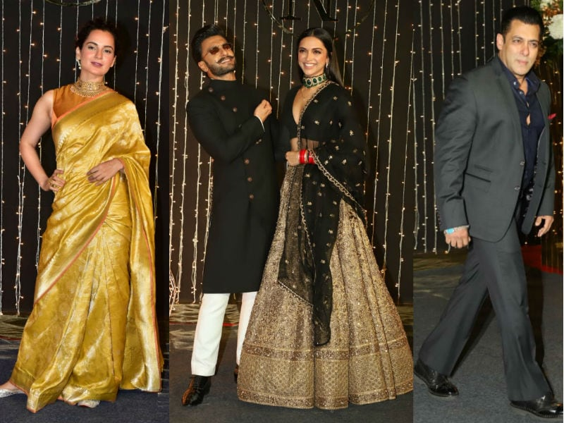 Deepika-Ranveer, Salman, Kangana, Katrina Lead Celeb Roll Call At Priyanka Chopra And Nick Jonas' Mumbai Reception