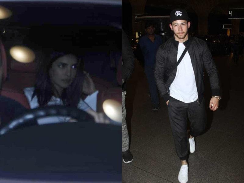 Priyanka Chopra Sees Nick Jonas Off At Mumbai Airport As He Leaves For The US
