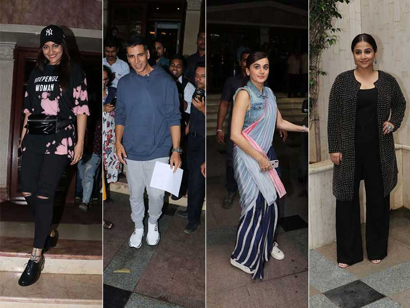 Busy Stars' Busy Days: Akshay, Vidya, Taapsee, Sonakshi's Packed Schedules