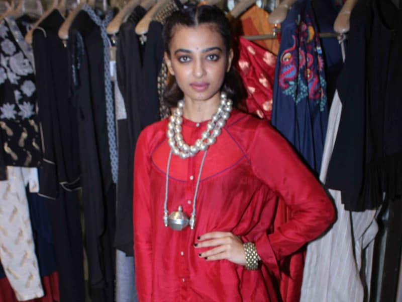 Radhika Apte Battled Monday Blues In Ethnic Red