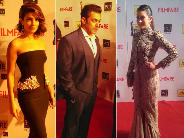 Photo : Celebrity roll call at Filmfare Awards 2014