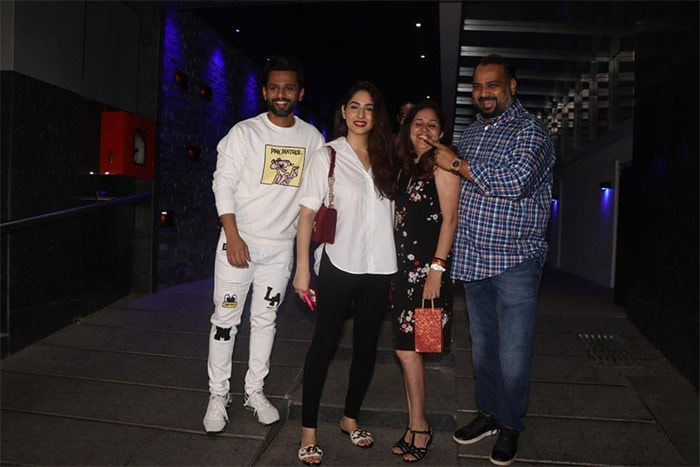 Rahul Vaidya And Disha Parmar, Twinning In White, Step Out For Date Night