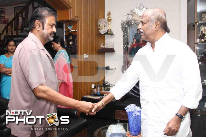 Rajinikanth catches up with old friend Mohan Babu