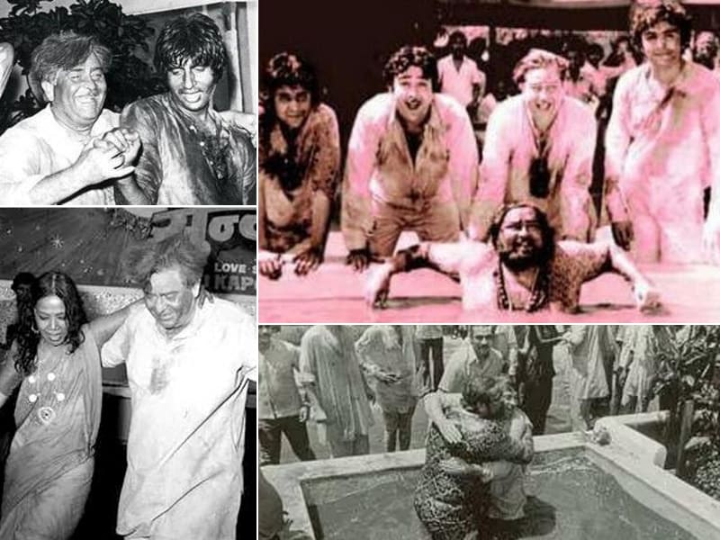 Holi Celebration in Raj Kapoor's Days