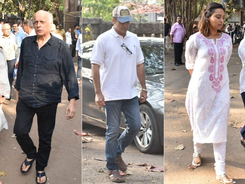 Raj Kumar Barjatya's Funeral Attended By Rajshri Actors Mohnish Bahl, Swara Bhasker
