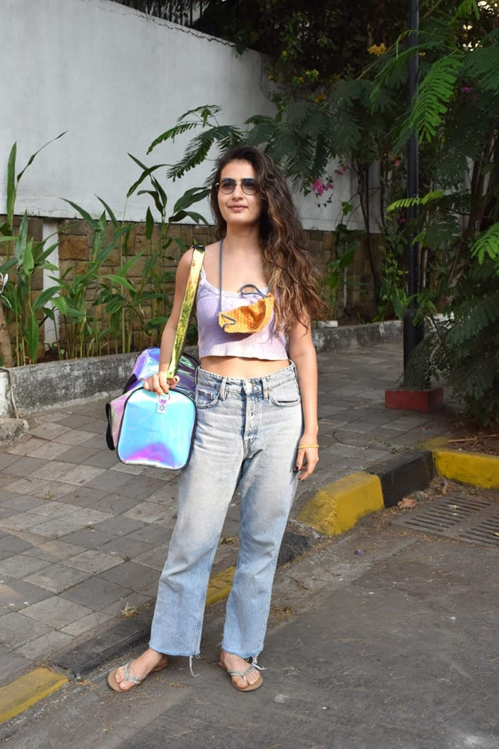 Fatima Sana Shaikh picked out a casual outfit as she stepped out in Juhu.