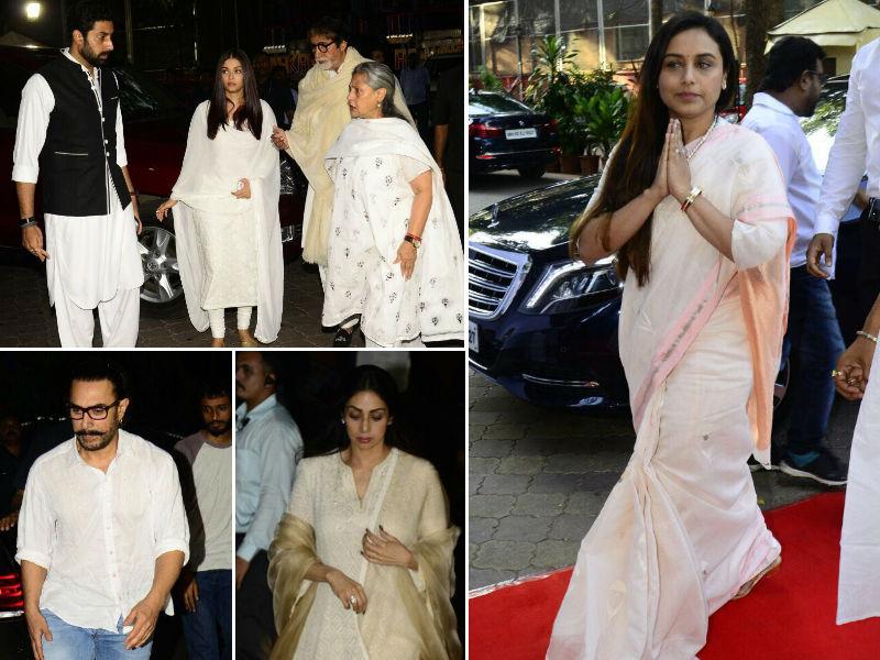 Photo : ऐश्वर्या-अभिषेक से आमिर-करीना तक, रानी मुखर्जी के पिता के चौथे में पहुंचे ये सितारे