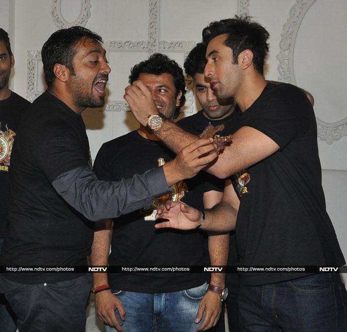 Bombay Velvet cake: Ranbir, Karan, Anurag