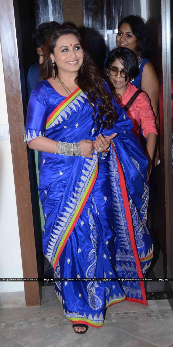Rani Mukerji Stays Traditional, Chitrangada Goes Chic