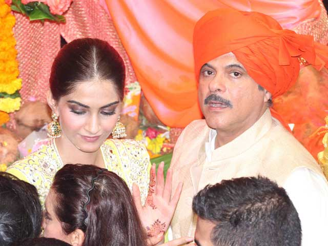 At Ganesha's Doors: Sonam and Anil Kapoor Visit Lalbagh