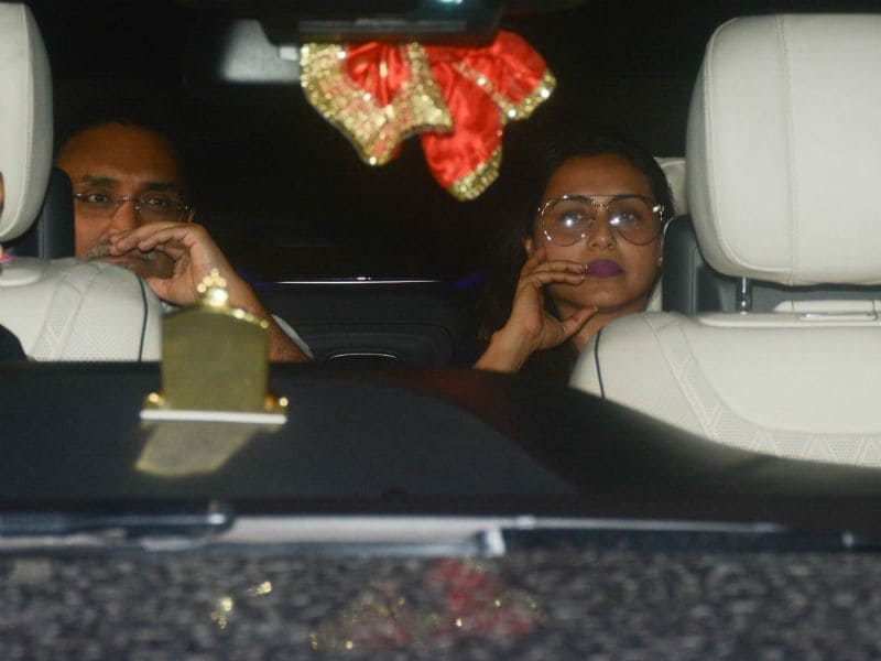 Rani Mukerji And Aditya Chopra's Monday Night Drive