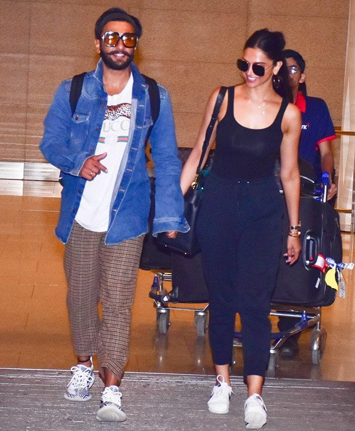 श्रीलंका में हनीमून मनाकर मुंबई वापस लौटे दीपिका-रणवीर