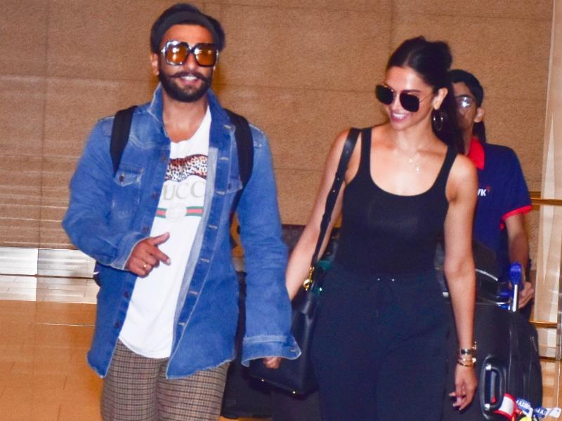 Photo : श्रीलंका में हनीमून मनाकर मुंबई वापस लौटे दीपिका-रणवीर