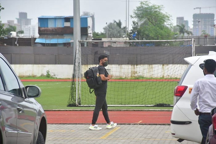Cricket legend MS Dhoni was also pictured outside the playground.