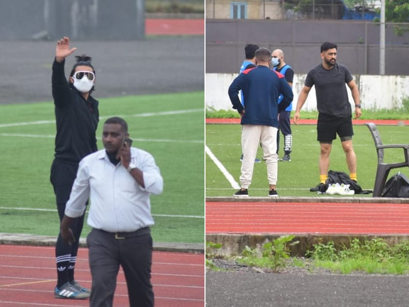 Photo : Inside Ranveer Singh And MS Dhoni's Football Match