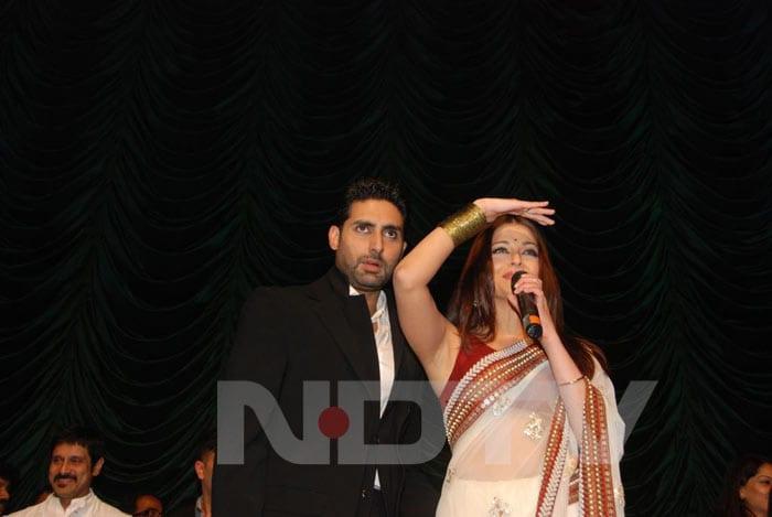 Ash, Abhi perform at Raavan music launch