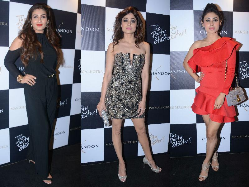Raveena, Shamita, Mouni Start The Week In Style