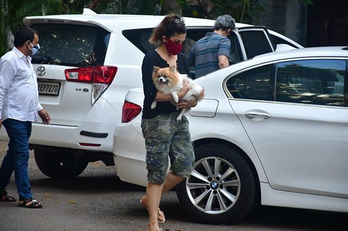 Raveena Tandon, Fatima Sana Shaikh Spotted With Their Pet Pooches
