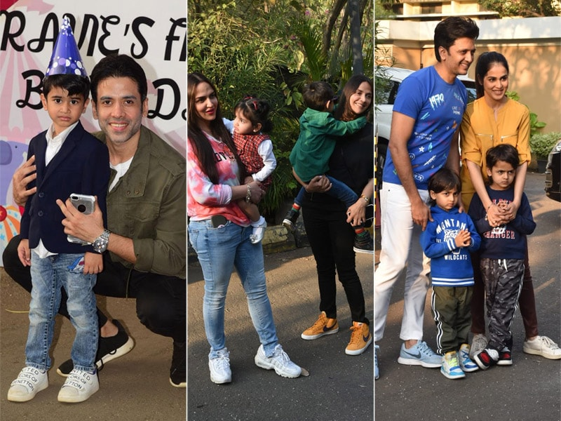 Ekta Kapoor's Son Ravie Turns One: Tusshar, Riteish, Esha Arrived With Their Little Ones