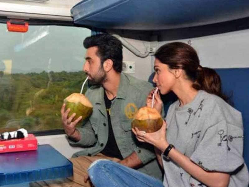 Photo : Deepika, Ranbir's Suhana Safar, Courtesy Indian Rail