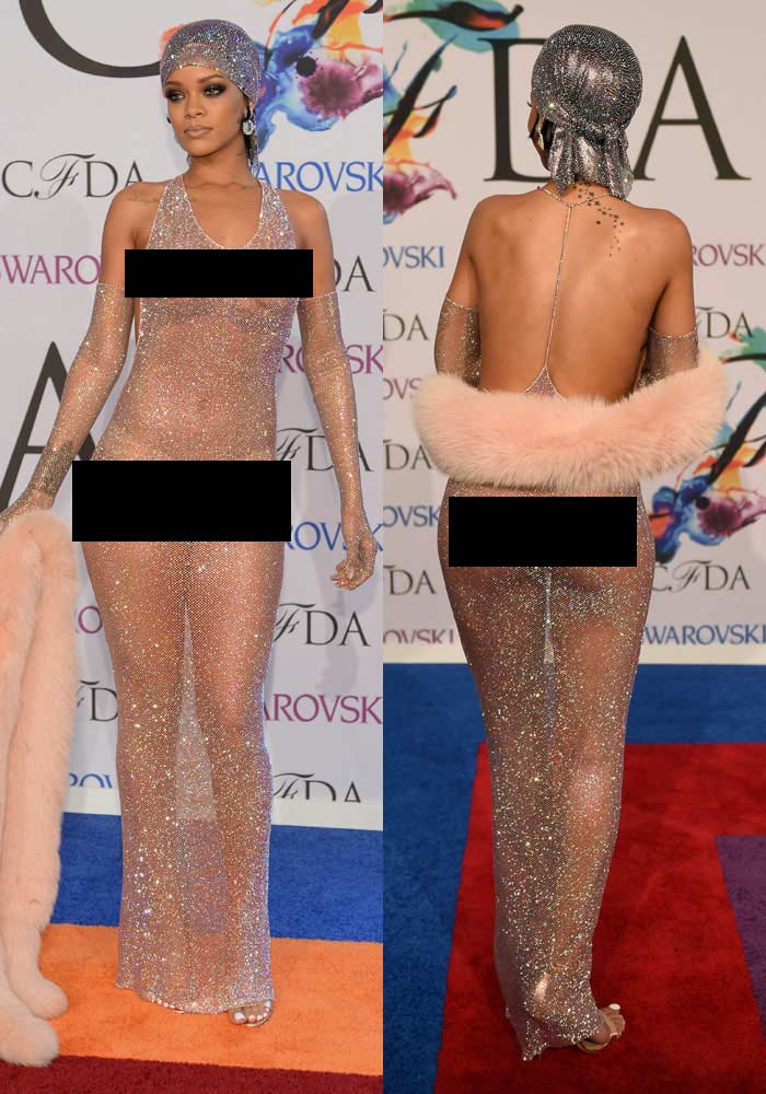 Censored! This is What Rihanna Considers a 'Dress'