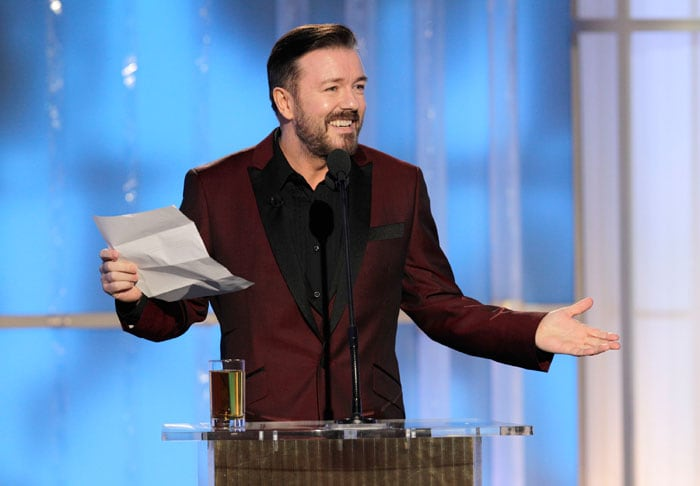 Top 10 Ricky Gervais cracks at the Globes