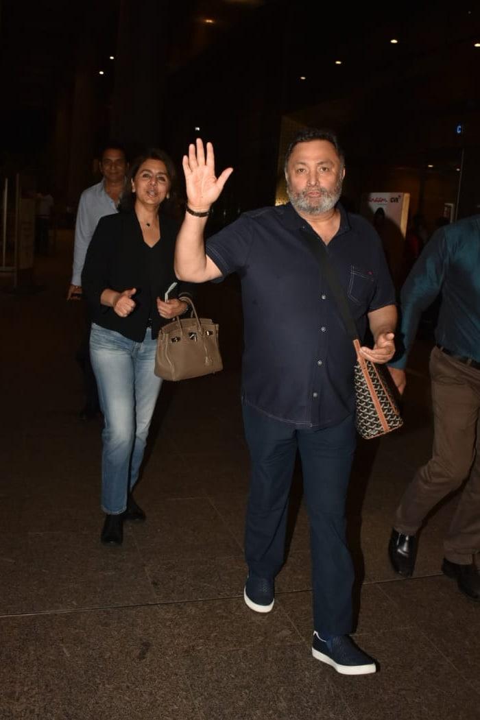 Rishi Kapoor And Neetu Kapoor Return To Mumbai