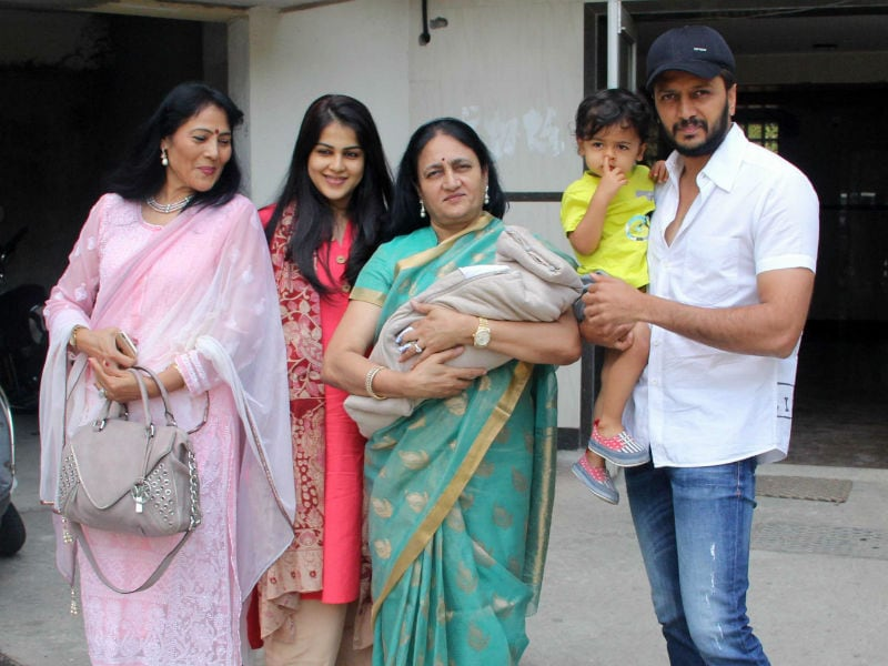 Look Who's Home! Riteish, Genelia Bring Riaan's Baby Brother Home