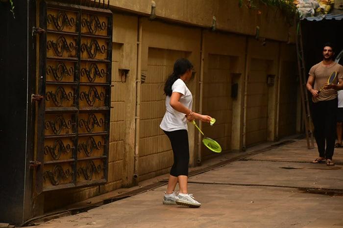 For Rohman Shawl And Sushmita Sen\'s Daughter Alisah, Sunday Is For Badminton