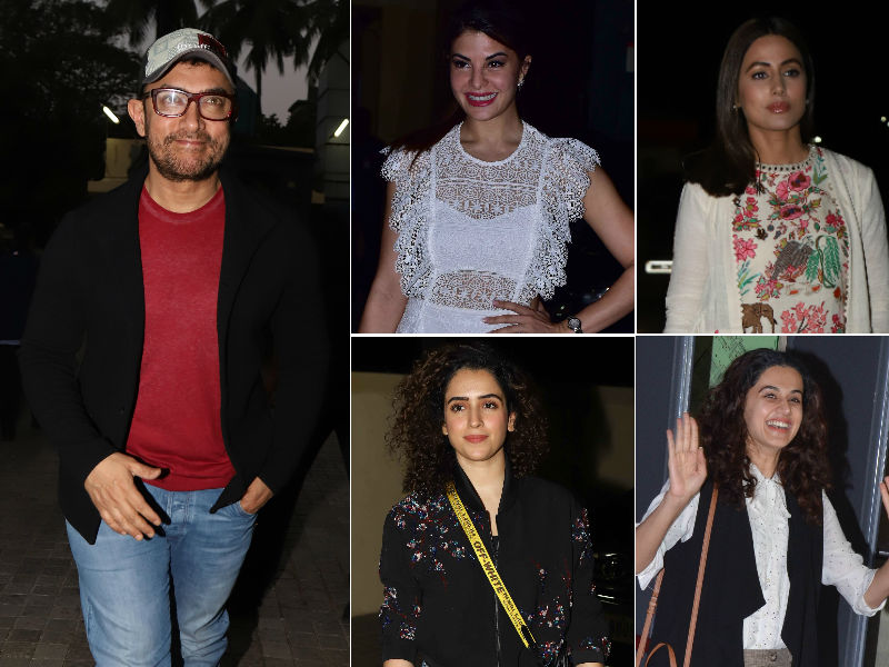 Aamir Khan Watches Rubaru Roshni With Jacqueline, Taapsee, Sanya And Hina Khan