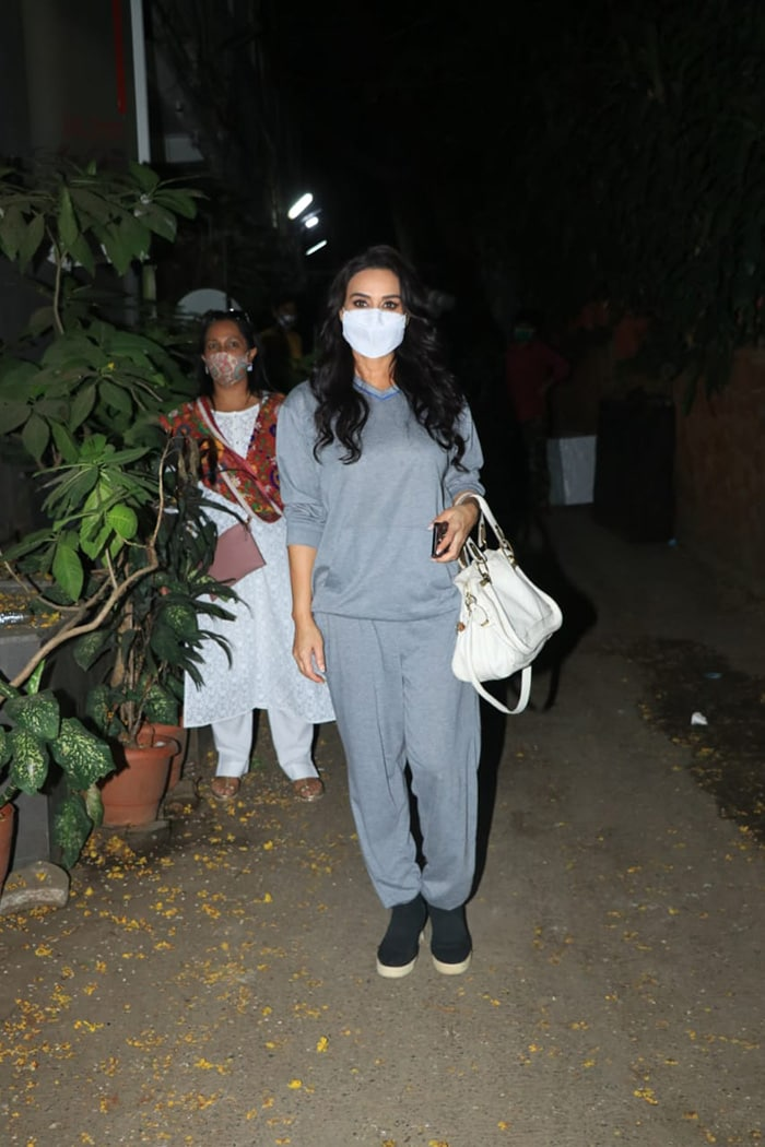 Actress Preity Zinta was spotted outside Krome Studio in Bandra on Tuesday.