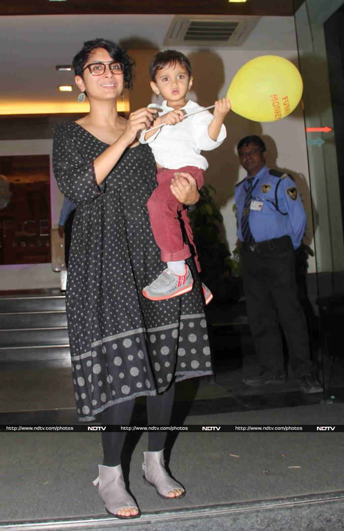 Aamir and Kiran Have an Early Birthday Party For Azad