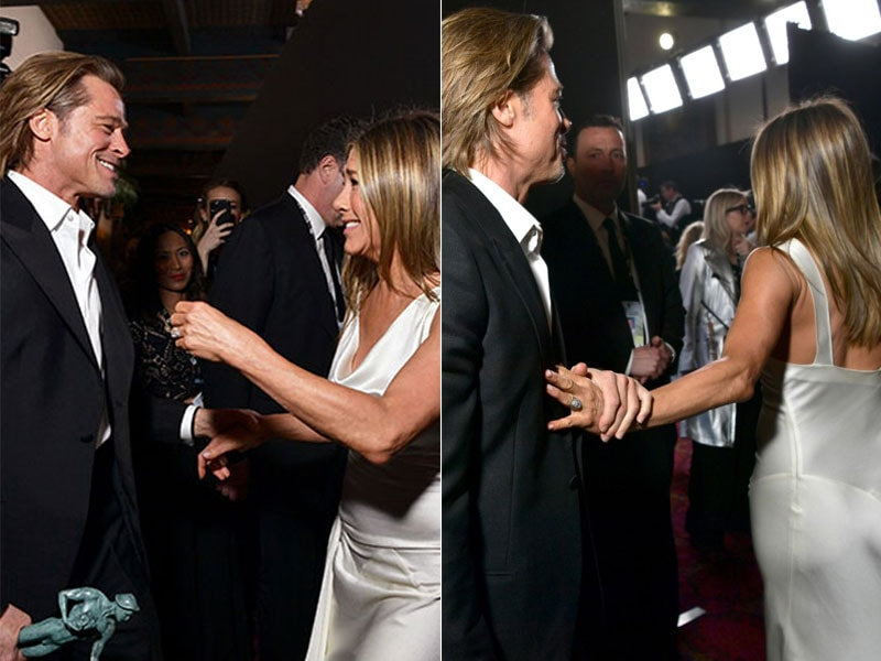 SAG Awards 2020: Jennifer Aniston, Brad Pitt's Backstage Reunion Will Melt Your Heart