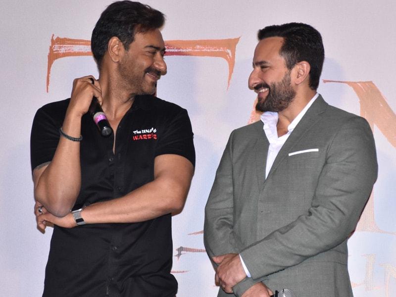 Photo : अपनी फिल्म 'तानाजी' के ट्रेलर लॉन्च में कुछ इस अंदाज में नजर आए अजय और सैफ