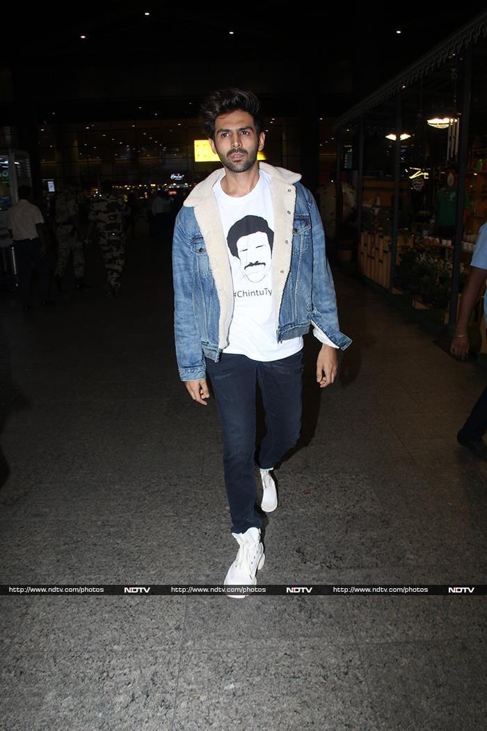 Star-Studded Airport With Saif Ali Khan, Ananya Panday, Kartik Aaryan