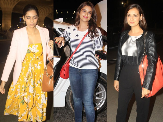 Elections after-party at IIFA: Sonam, Parineeti, Dia