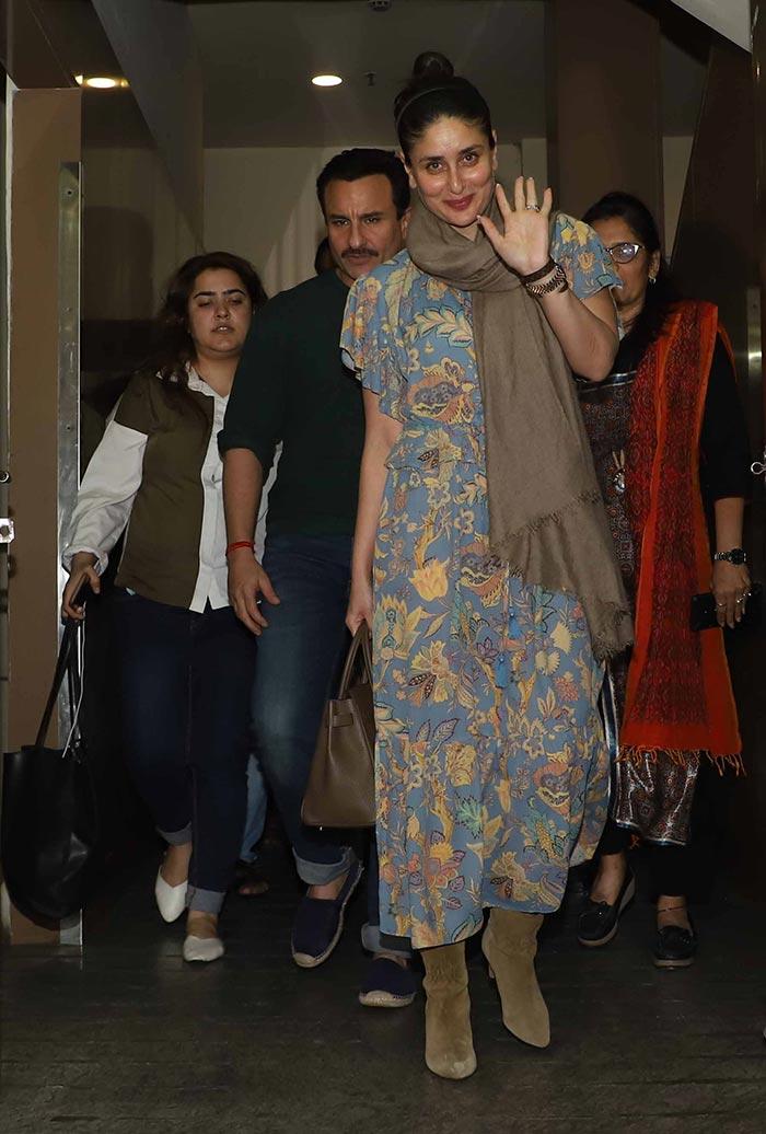 Saif Ali Khan And Kareena Kapoor\'s Movie Date Night