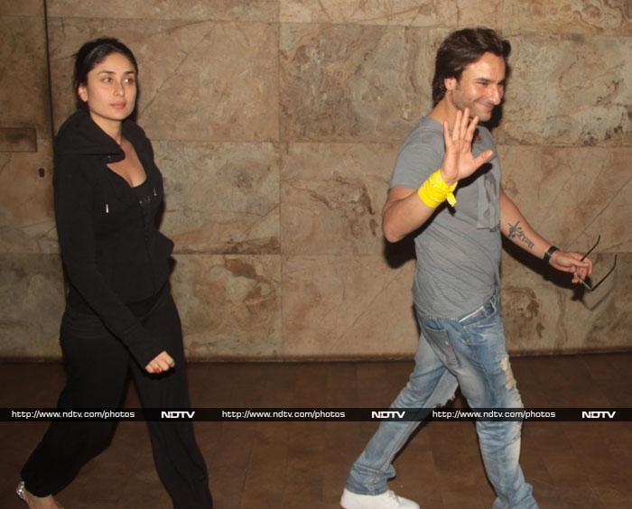 Saif\'s movie date with Kareena, Karisma