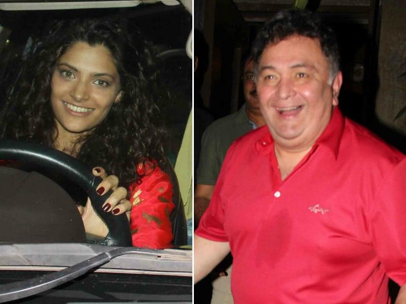 Photo : Say Cheese: Saiyami Kher, Rishi Kapoor's Fun-Filled Sunday