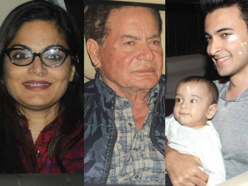 Salim Khan Celebrates Birthday With His Children and Grandchildren