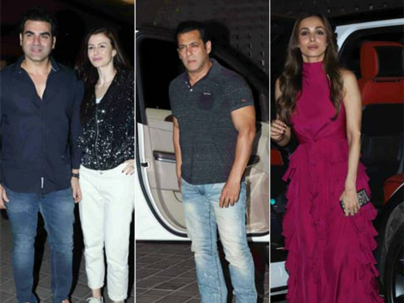 Salman Khan, Malaika, Amrita Arora And Arbaaz Attend Salma Khan's Birthday Bash