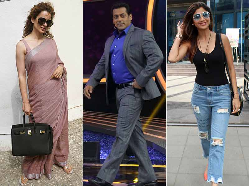 Salman, Kangana, Shilpa Had A Busy Day