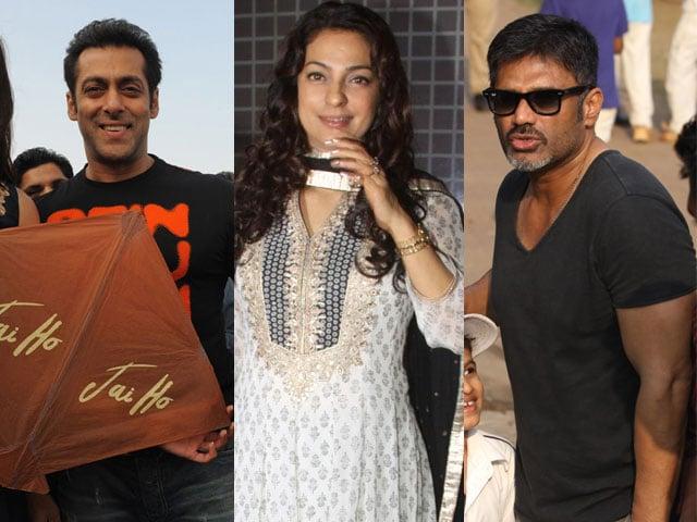 Any given day: Salman, Juhi, Suniel
